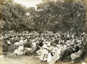 Crowd at 1938 Dedication Ceremony