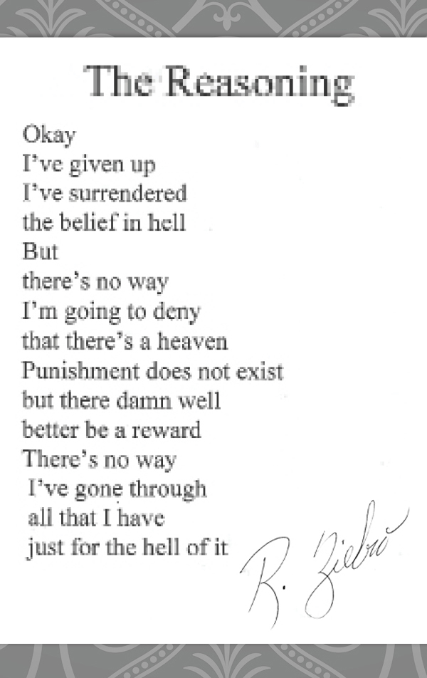 Poems- the reasoning