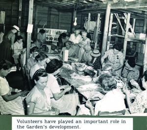 Ramble Festival volunteers during the early days of Fairchild