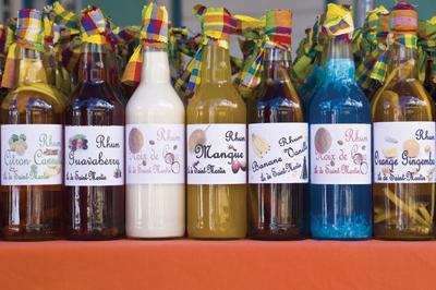 Bottles Of Fruit Flavored Rum