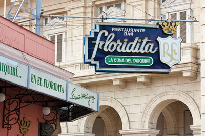HAVANA-JANUARY 15:The historic Floridita restaurant January 15,2
