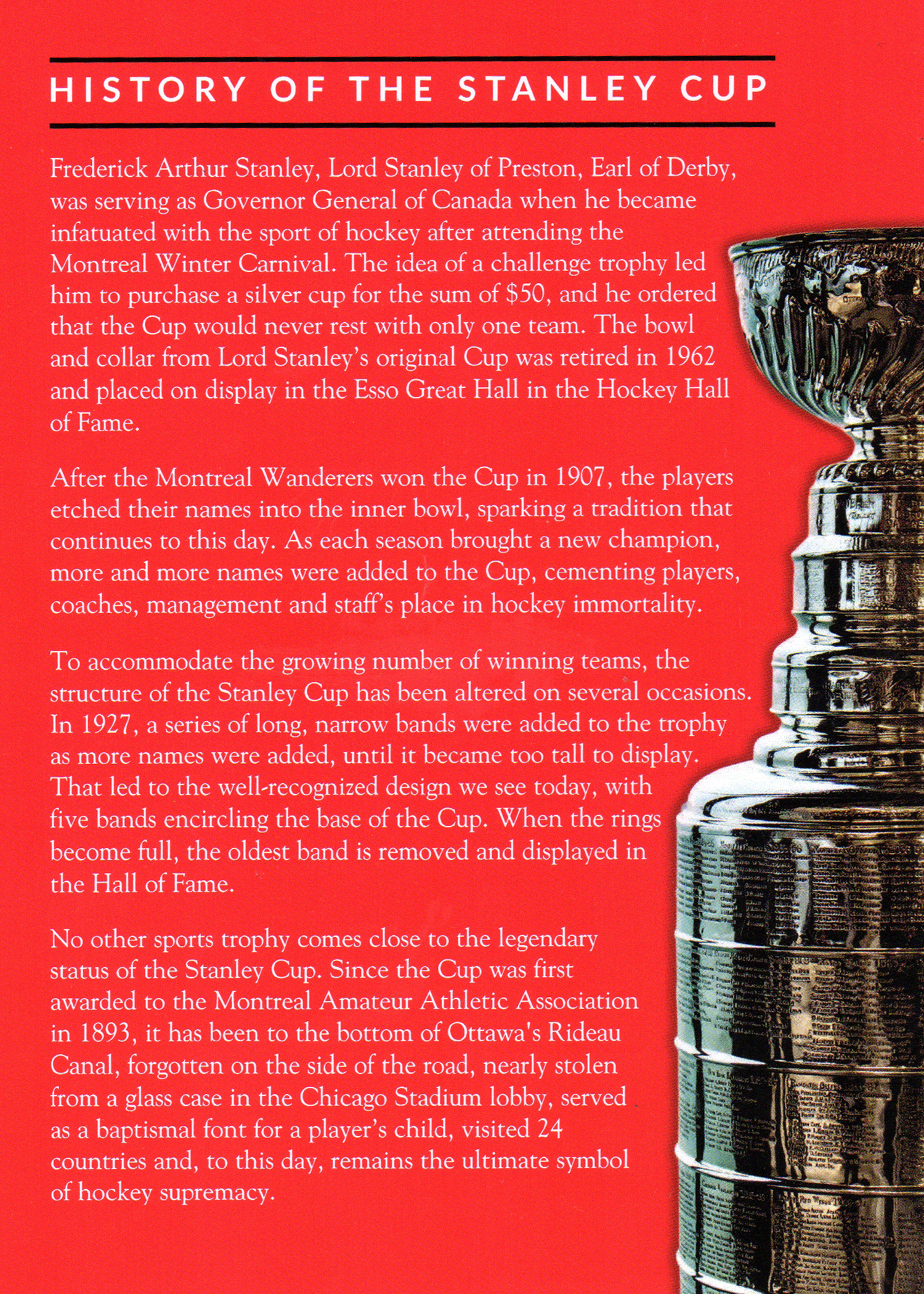 Stanley Cup Flyer.